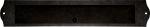 Briefeinwurf Schmiedeeisen matt schwarz lackiert, Jugendstil Haustürbeschlag antik, alt
