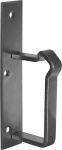 Kastenschloss hebende Falle rustikal, Mauskastenschloss mit Schlüssel und Schließkloben, Eisen blank, DIN rechts, einwärts, BB, Dornmaß: 60mm