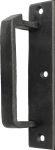 Schließkloben zum Aufschrauben, Eisen matt schwarz lackiert, für Türe DIN links, Aufschraubkloben