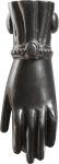 Türklopfer Hand antik alt, aus Eisen gegossen dann matt schwarz antik lackiert