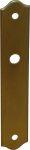Jugendstil Türbeschlag Landhaus, Türbeschläge historisch nostalgisch, Türschild aus Messingblech gefertigt