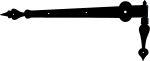 Türband lang, Langband mit Kloben, Eisen schwarz, Türscharniere antik, Altbau historisch