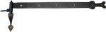 Torband antik, Türband alt, historisches Langband mit Kloben schmiedeeisern, Eisen schwarz, Länge: 700mm