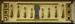 Schlüsselschild, Originalbeschlag, Messing roh, aus Blech gestanzt und geprägt.