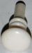 Kunststoffknopf, weiß, Ø 12mm, antiker Möbelknopf