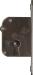 Einsteckschloß, Dorn 15mm, links, mit Zuhaltungen