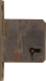 Einsteckschloß, Dorn 30mm, rechts