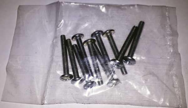 Metrische Schrauben, 10 Stück Packung, Eisen verzinkt für Knöpfe, Möbelgriffe…